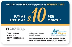 ABILIFY MAINTENA® Savings Card
